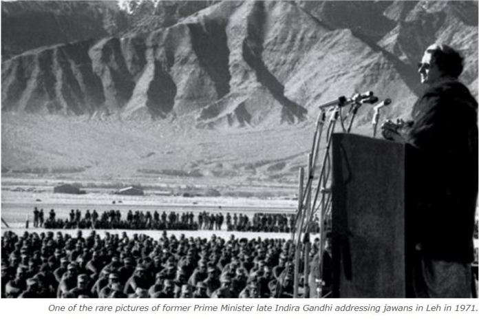 Congress shares old picture of Indira Gandhi in Leh, claims it is Galwan Valley and Modi has given it to China
