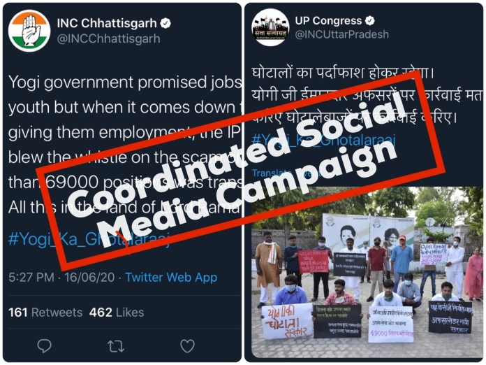Congress IT cell mobilised its IT cell warriors to cast smear on the Yogi Adityanath government