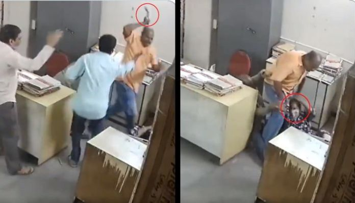 Watch: Female employee in Andhra Tourism hotel thrashed by co-worker