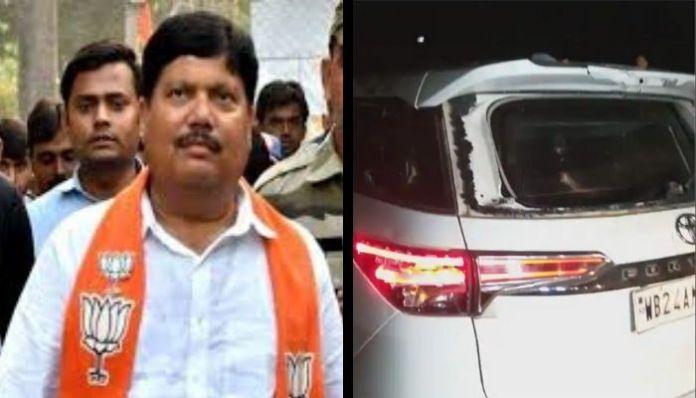 Car of BJP MLA Arjun Singh vandalised, accuses TMC for the attack