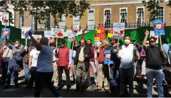 London: Indian, Iranian diaspora protest outside Chinese embassy