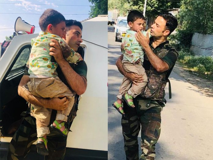J&K Police rescued kid