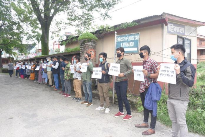 Hindus in Nepal protest against oppression of Pakistani Hindus