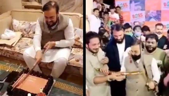 Samajwadi Party leader cuts cakes with sword; netizens demand arrest
