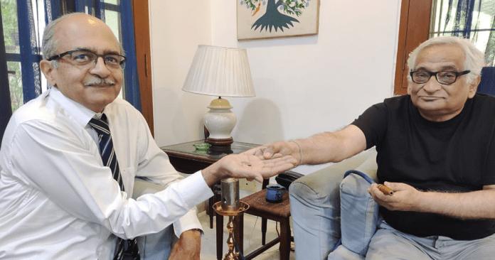 Prashant Bhushan and Rajeev Dhavan