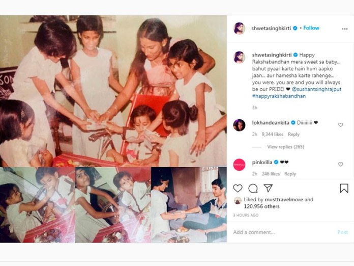 Instagram post of Sushant's sister