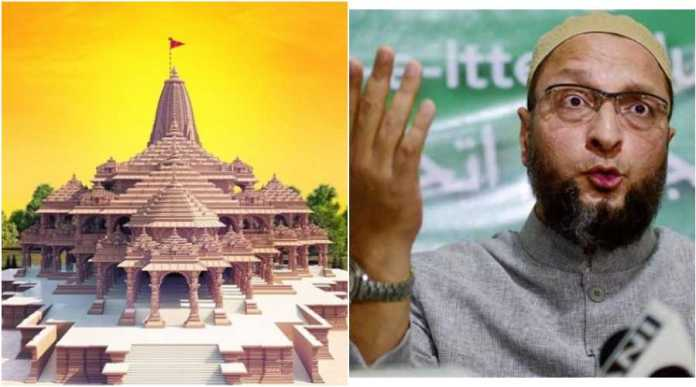 Owaisi suffering a massive meltdown over Bhoomi Pujan