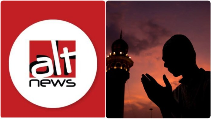 Alt News questions the Muslimness of those who support the BJP and the RSS