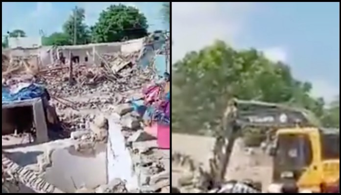 After a Hindu basti was bulldozed in Bhawalpur, Hindu homes being razed in Umarkot