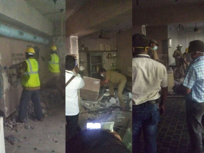 Demolition drive at Kangana Ranaut Office