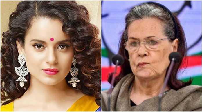Kangana Ranaut questions Sonia Gandhi's silence