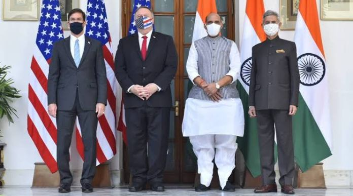 India and US had a third edition of India-US 2+2 talks and signed a landmark defence intelligence pact BECA during the talks