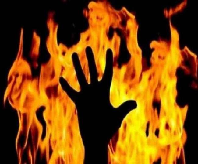 salesman burnt alive in Rajasthan
