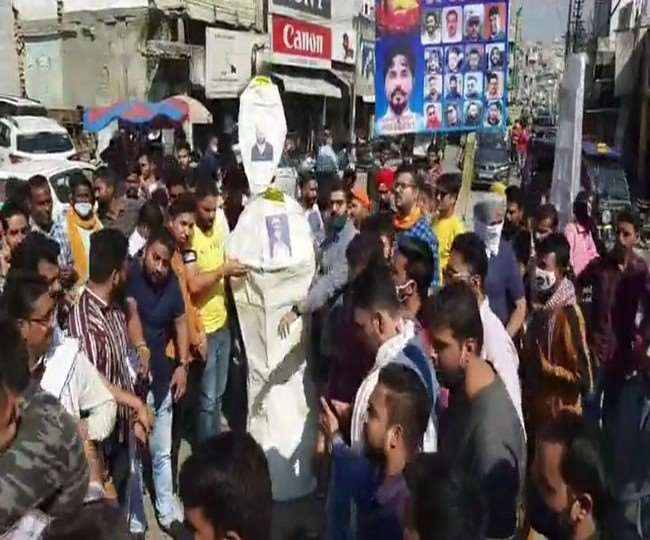 Miscreants burnt Lord Ram's effigy in Amritsar