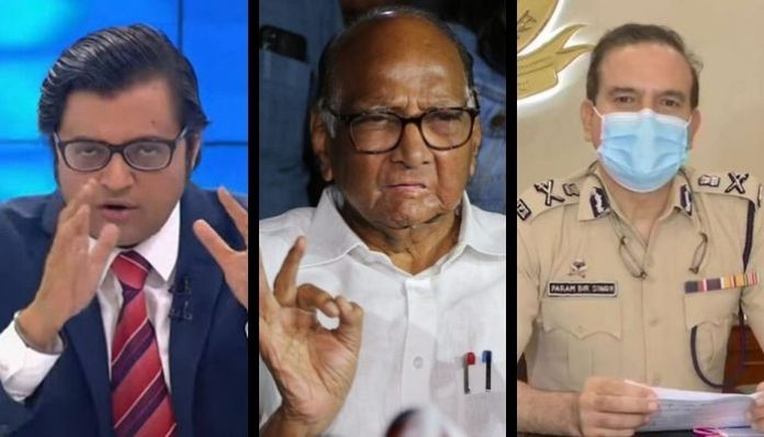 Arnab Goswami accuses Mumbai police Commissioner of meeting Sharad Pawar