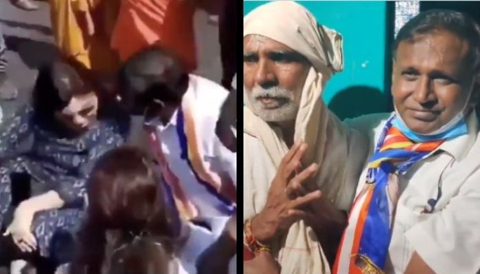Dalit Congress leader Udit Raj seen laughing, cracking jokes at a protest in Hathras case