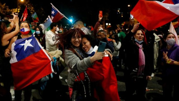 Chile Celebrates as referendum decides on a new constitution
