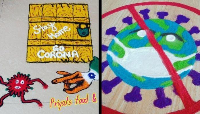 Times Now faces backlash for promoting Coronavirus-inspired Rangolis
