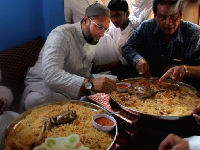 Asaduddin Owaisi and Raja Singh in a war of words over beef and pork biriyani