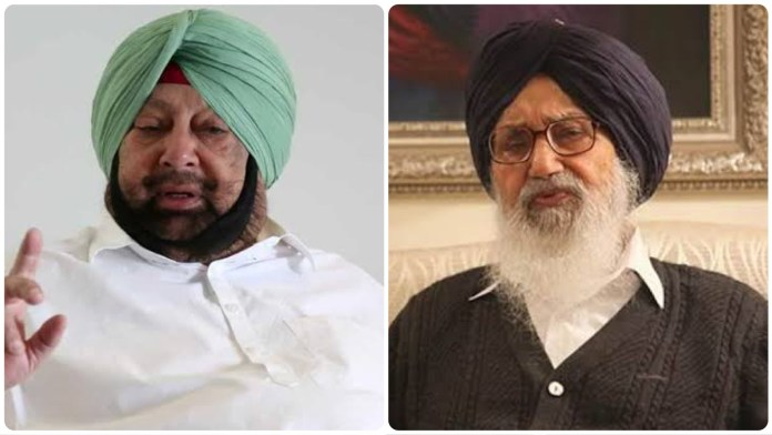 Punjab CM Amarinder Singh Badal questions Parkash Singh Badal;s on his returning the Padama Vibushan, questions why he got it in the first place