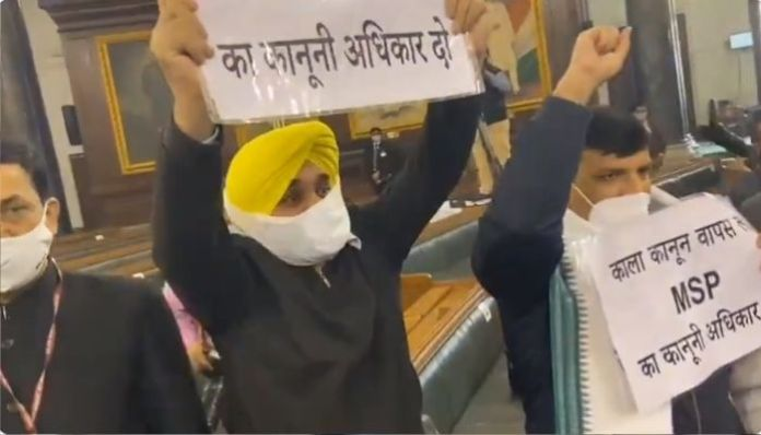 AAP disrupts tribute ceremony of Atal Bihari Vajpayee in Parliament