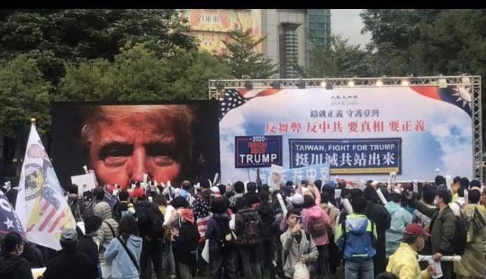 Donald Trump rally in Taipei, Taiwan