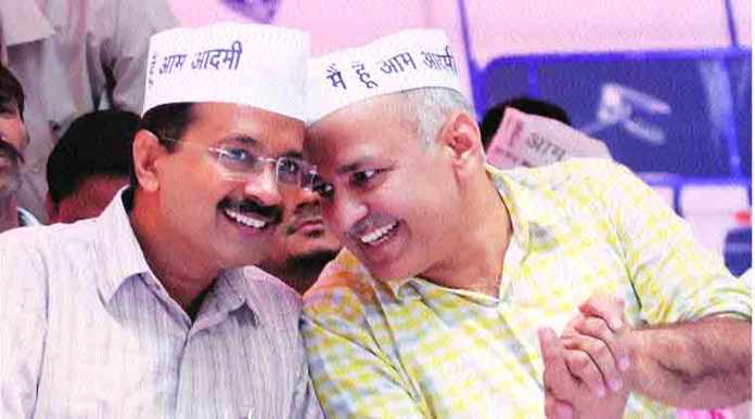 AAP leaders stage a dharna outside Kejriwal's residence to oppose his imaginary house arrest