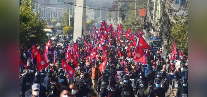 Protesters in Nepal demand restoration of Hindu Monarchy
