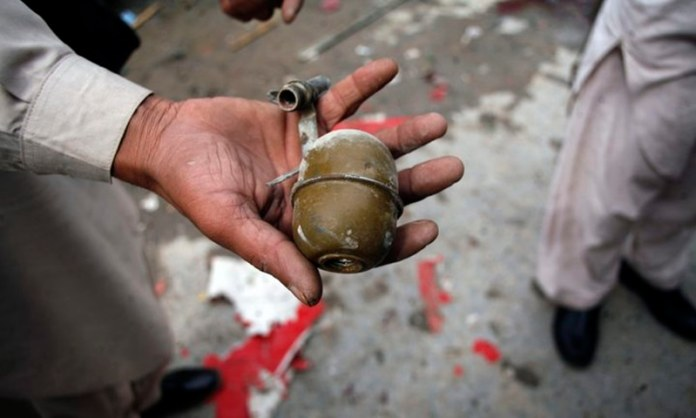 2 children died and 3 grievously injured after a live grenade which they found on a street in Peshawar exploded