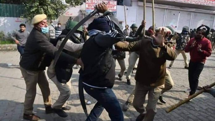 Rahul Gandhi shared misleading images of a police action of sword-wielding protester to allege Modi government of cruelties