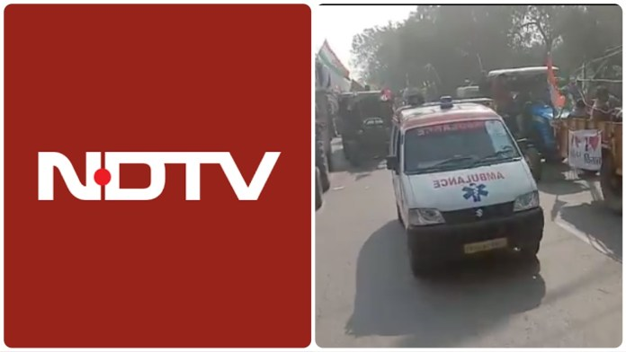 NDTV tries to downplay violence witnessed during the tractor rally