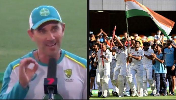 Indian fans chant 'Bharat Mata ki Jai' after India clinches Brisbane Test