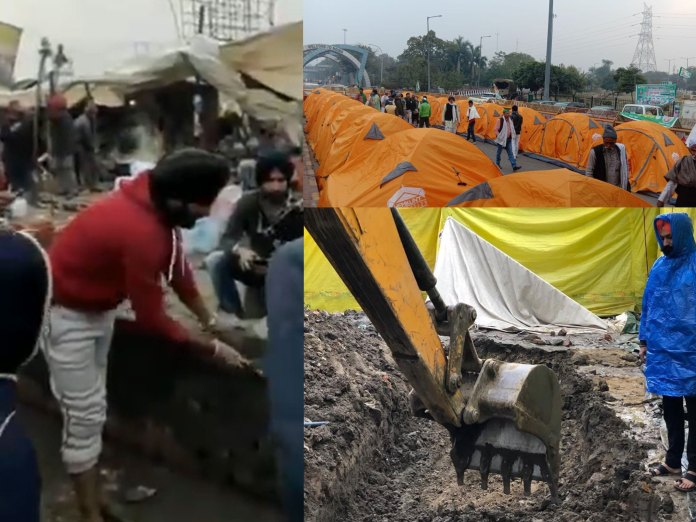 Illegal Constructions on Singhu Border