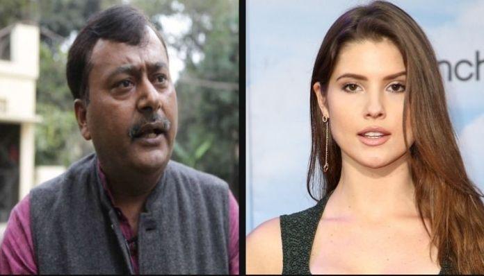 Congress leader Surendra Rajput shows 'affection' towards Playboy model