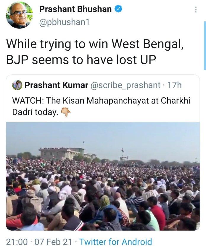 Prashant Bhushan Charkhi Dadri tweet