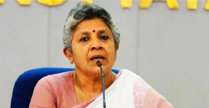 Kerala Mahila Congress Chief Lathika Subhash tonsures head in protest