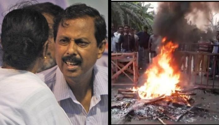 Denied ticket, supporters of TMC leader Arabul Islam burn down own office