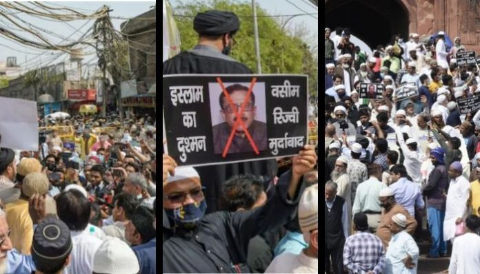 Jama Masjid: Muslim protestors call for social boycott, arrest of Waseem Rizvi