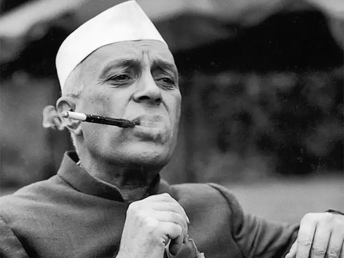 Nehru Smoking