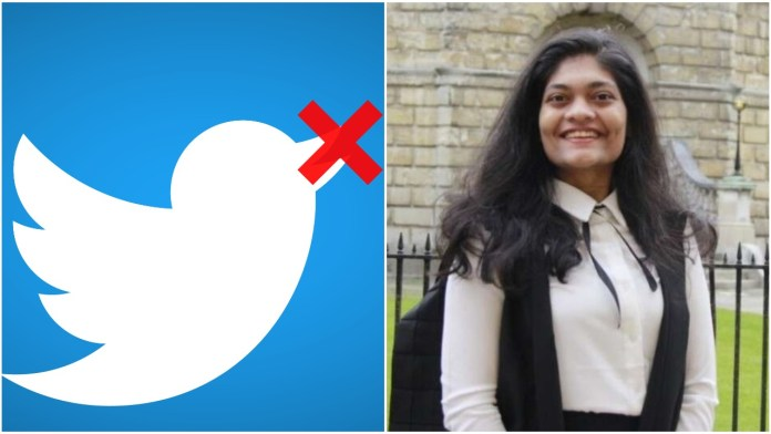 Oxford student Rashmi Samant, who was elected president of the student union, now faces Twitter restrictions