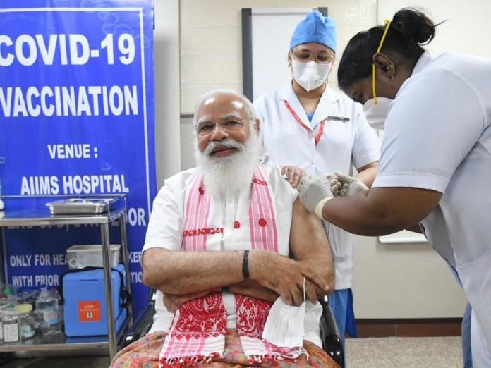 PM Modi in covid vaccination drive