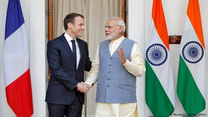 French President shares a message of solidarity with Indians in Hindi