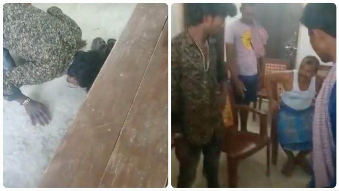 A man was made to lick his saliva at village panchayat in Gaya
