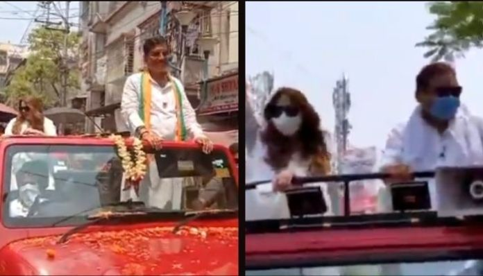 WB polls: Actress Mahima Chaudhry campaigns for both BJP and TMC