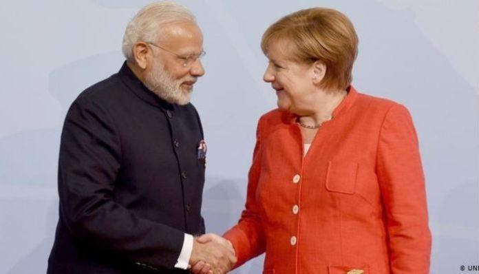 PM Modi with Angela Merkel