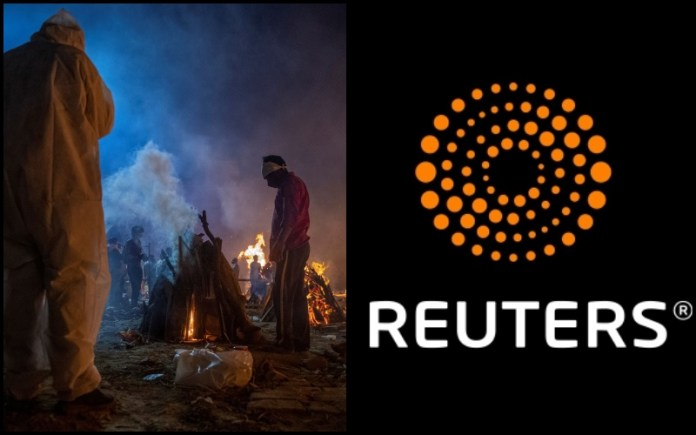 Feasting on the dead: Reuters' voyeuristic obsession with watching Hindus burn amid the rising COVID-19 pandemic