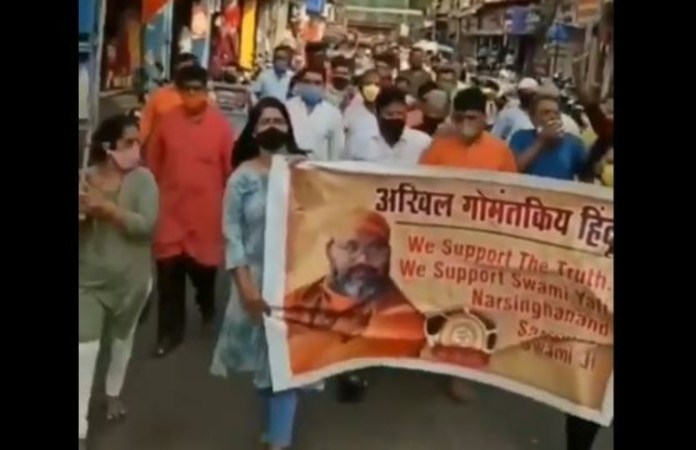 Hindus march in support of Yati Narsinghanand Saraswati, demand security