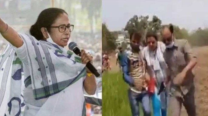 TMC Arambagh candidate Sujata Mondal Khan chased away by villagers