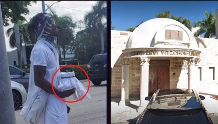 US: Anti-Semitic Black man leaves bag full of faeces outside synagogue