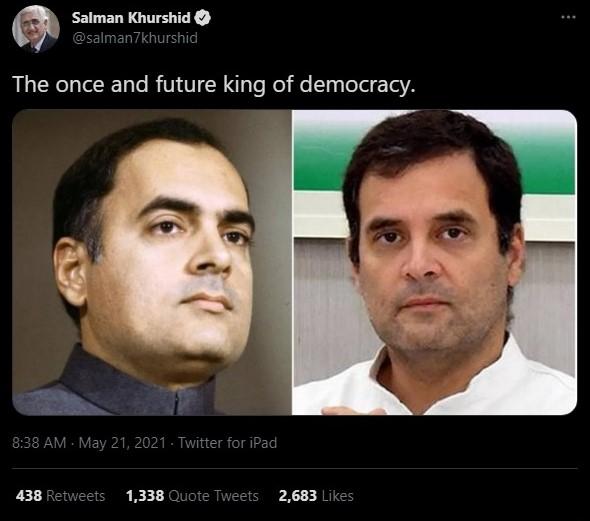 Salman Khurshid declares Rahul  Gandhi as future King
